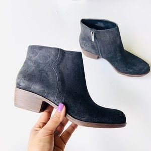 lucky brand balexa suede leather ankle boots